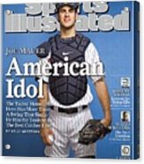 Minnesota Twins Joe Mauer Sports Illustrated Cover Acrylic Print