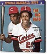 Minnesota Twins Rod Carew And Cincinnati Reds George Sports Illustrated Cover Acrylic Print