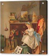 Miss Oakley Making The Scrapbook 1866 Acrylic Print