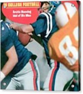 Mississippi Qb Archie Manning... Sports Illustrated Cover Acrylic Print