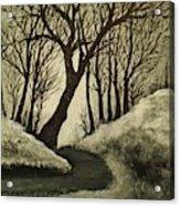 Misty Dawn In Early Winter Acrylic Print