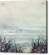 Misty Morning On Lawrencetown Beach Acrylic Print