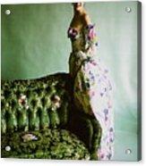 Model In A Ben Gam Dress Acrylic Print