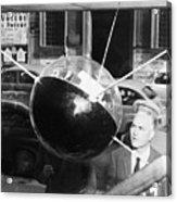 Model Of Sputnik In Store Window Acrylic Print