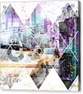 Modern Art Coordninates Manhattan And Brooklyn Acrylic Print