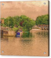 Molesey Lock And Weir Acrylic Print