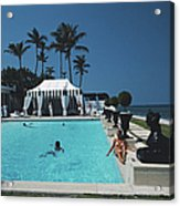Molly Wilmots Pool Acrylic Print