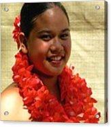 Molokai Hula Girl Acrylic Print