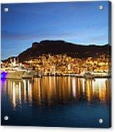 Monaco At Twilight Acrylic Print