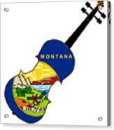 Montana State Fiddle Acrylic Print