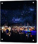 Monterey Bay At Night Acrylic Print