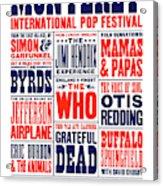 Monterey Pop Festival, poster Acrylic Print