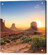 Monument Valley Twilight, Az, Usa Acrylic Print