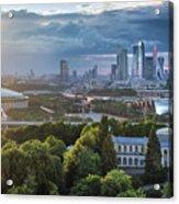 Moody Cityscape Of Moscow – Luzhniki Acrylic Print