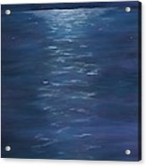 Moon Glow On The River Acrylic Print