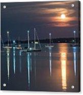 Moon Over Rockland Acrylic Print