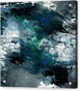 Moonlight Ocean- Abstract Art By Linda Woods Acrylic Print