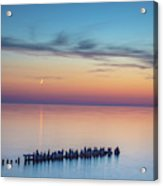 Moonset On Lake Superior Acrylic Print
