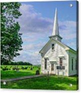 Moose Brook Chapel Acrylic Print