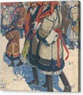 Moravian Slovaks In The Winter Acrylic Print
