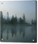 Morning Fog Over Yellowstone River Acrylic Print