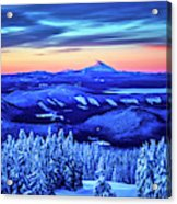 Morning From Timberline Lodge Acrylic Print