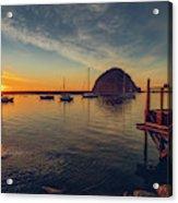 Morro Bay Harbor Sunset Acrylic Print