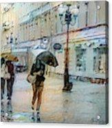 Moscow In The Rain Acrylic Print