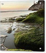 Mossy Rocks At Pismo Beach Acrylic Print