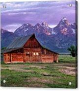 Moulton Barn Sunrise Acrylic Print