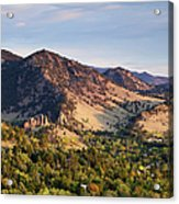 Mount Sanitas And Fall Colors In Acrylic Print