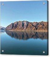 Mountain Reflected On Lake Hawea Acrylic Print
