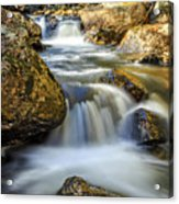 Mountain Stream Waterfall  Acrylic Print