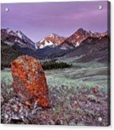 Mountain Textures And Light Acrylic Print