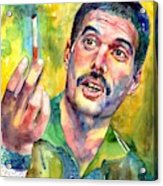 Mr Bad Guy - Freddie Mercury Portrait Acrylic Print