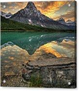 Mt Chephren Sunset Acrylic Print