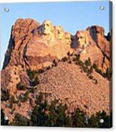 Mt Rushmore Memorial Carvings Acrylic Print