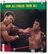 Muhammad Ali, 1974 Wbawbc Heavyweight Title Sports Illustrated Cover Acrylic Print
