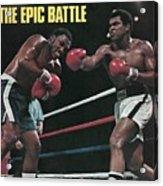 Muhammad Ali, 1975 Wbcwba Heavyweight Title Sports Illustrated Cover Acrylic Print