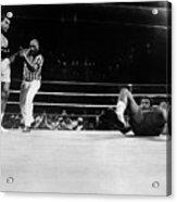 Muhammad Ali Knocks George Foreman Onto Acrylic Print