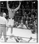 Muhammad Ali Knocks Out Cleveland Acrylic Print