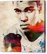 Muhammad Ali Watercolor Portrait Acrylic Print