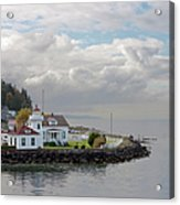 Mukilteo Lighthouse On Puget Sound Acrylic Print