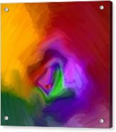 Multiple Colored Abstract By Delynn Addams Acrylic Print