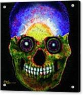 Mundi Earth Sugarskull Acrylic Print