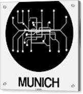 Munich Black Subway Map Acrylic Print