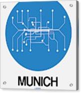 Munich Blue Subway Map Acrylic Print