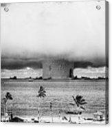Mushroom Cloud Over The Bikini Atoll Acrylic Print