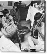 Musician George Harrison Receiving Acrylic Print