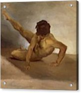 Naked Man Reversed On The Ground Acrylic Print